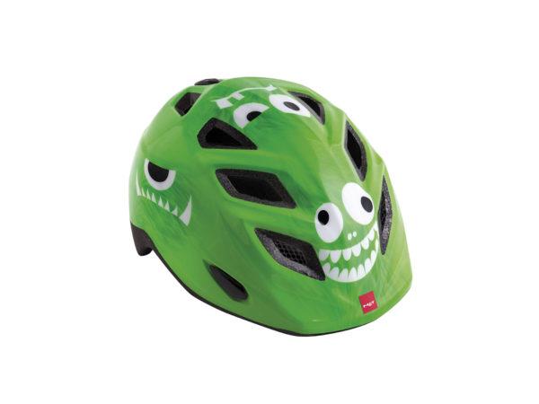 hjelm met grøn monster
