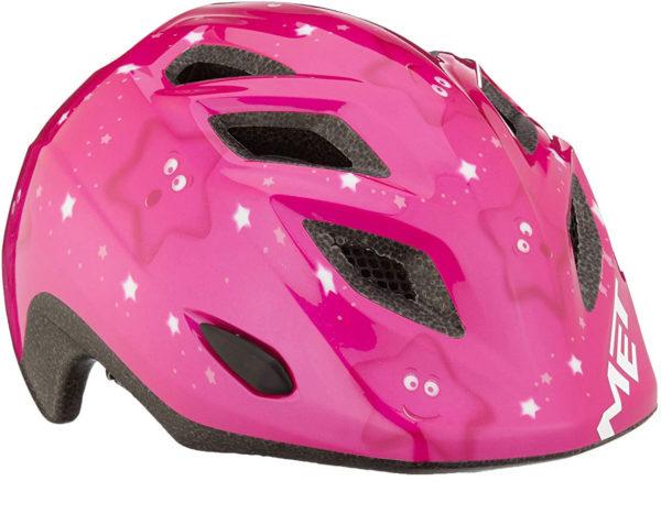 hjelm met pink stjerner